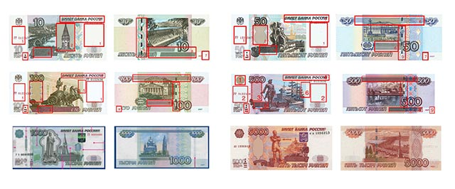 Russian Ruble notes